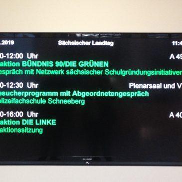 NESSI im Sächsischen Landtag mit den GRÜNEN
