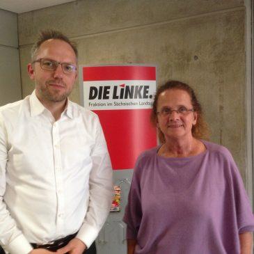 Treffen im Sächsischen Landtag mit der LINKEN