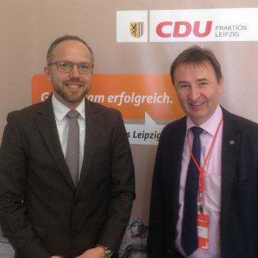 Treffen im Leipziger Rathaus mit der CDU